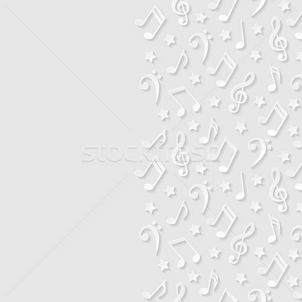 Absztrakt hangjegyek textúra háttér művészet csillag Stock fotó © AbsentA