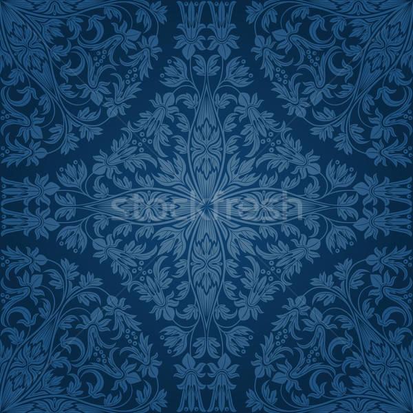 Senza soluzione di continuità floreale pattern retro foglia sfondo Foto d'archivio © AbsentA