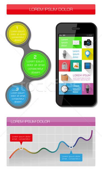 Ui infografica web elementi design eps10 Foto d'archivio © AbsentA