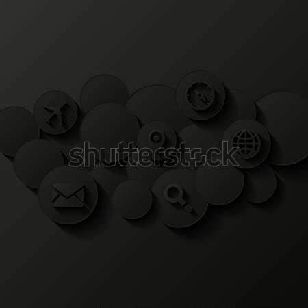 Abstract background. Cloud storage concept Stock photo © AbsentA