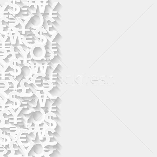 Abstract valuta symbolen papier ontwerp achtergrond Stockfoto © AbsentA
