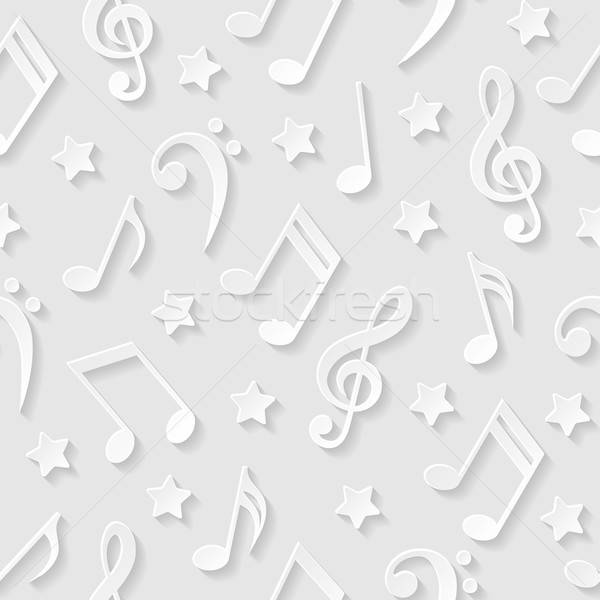 Seamless pattern with musical notes. Vector illustration. Stock photo © AbsentA
