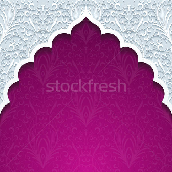Abstrato tradicional ornamento projeto retro papel de parede Foto stock © AbsentA
