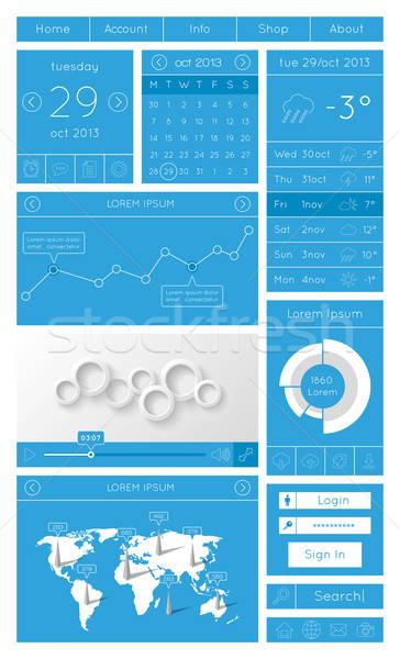 Ui infografika háló elemek terv világ Stock fotó © AbsentA