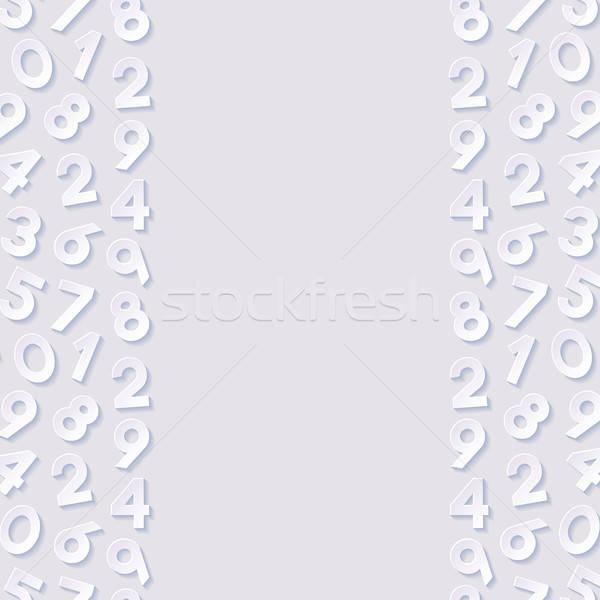 Abstrato números papel fundo papel de parede branco Foto stock © AbsentA