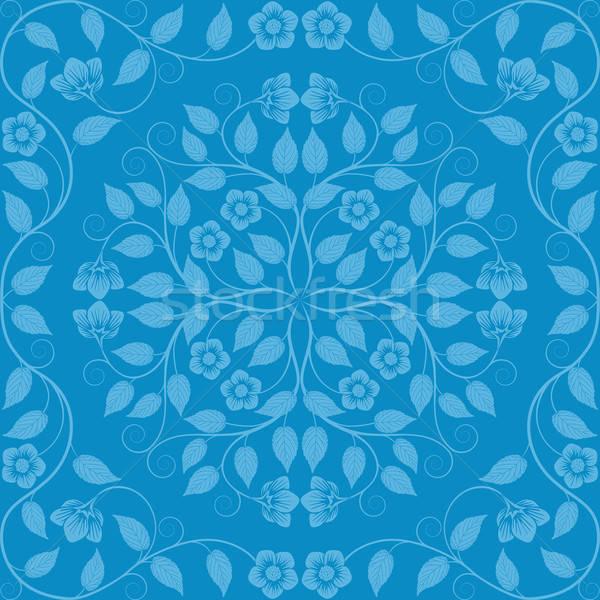 抽象的な シームレス フローラル パターン レトロな 自然 ストックフォト © AbsentA