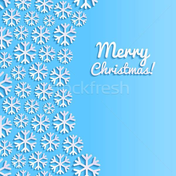 Abstract sneeuwvlokken sneeuw achtergrond Blauw retro Stockfoto © AbsentA