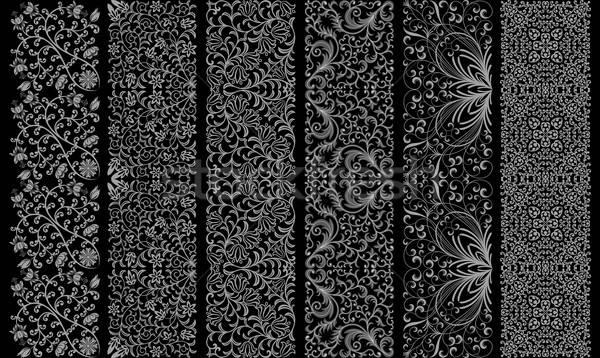Senza soluzione di continuità floreale ornamento retro foglia sfondo Foto d'archivio © AbsentA