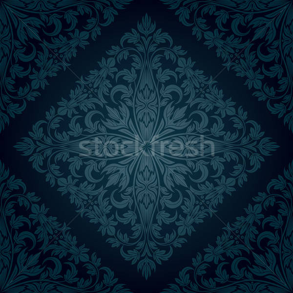 бесшовный цветочный шаблон ретро лист фон Сток-фото © AbsentA