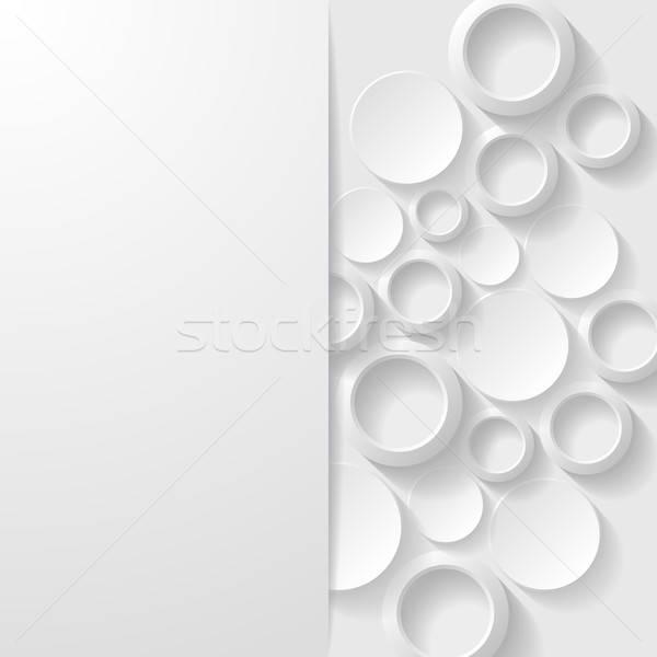 Abstrato geométrico papel fundo branco padrão Foto stock © AbsentA