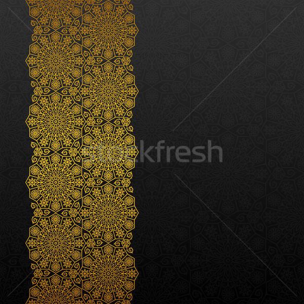 аннотация традиционный орнамент цветок золото ретро Сток-фото © AbsentA