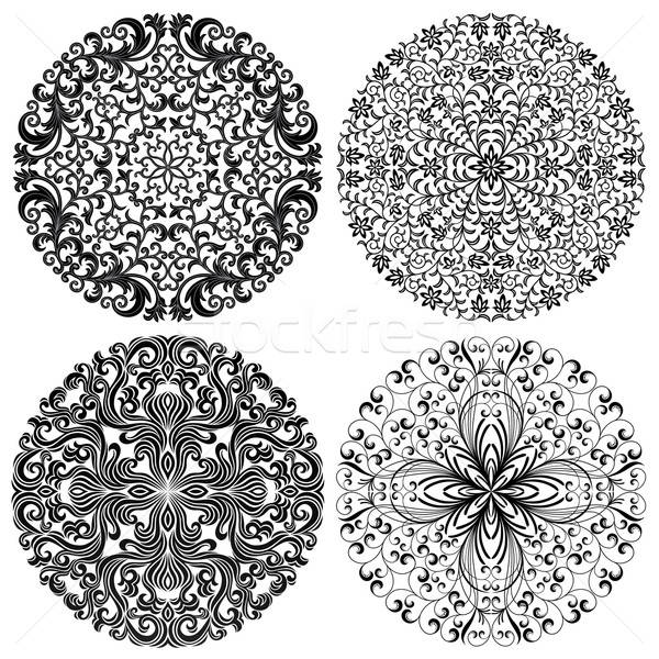 Floral patterns set. Vector illustration. Stock photo © AbsentA