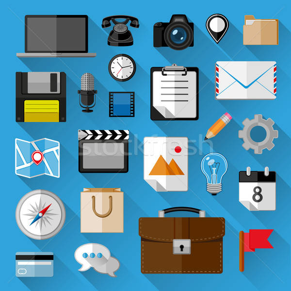 Flat icons bundle. Business concept. Vector illustration. Stock photo © AbsentA