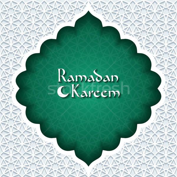 Ramadan wenskaart abstract groene retro behang Stockfoto © AbsentA
