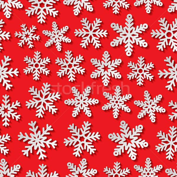 Nieve Fondo Retro Wallpaper Ilustración Vectorial