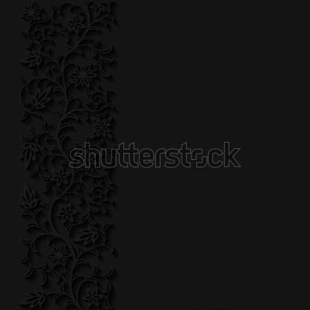 抽象的な フローラル 紙 背景 レトロな 影 ストックフォト © AbsentA