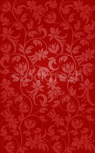 シームレス フローラル パターン レトロな 葉 背景 ストックフォト © AbsentA