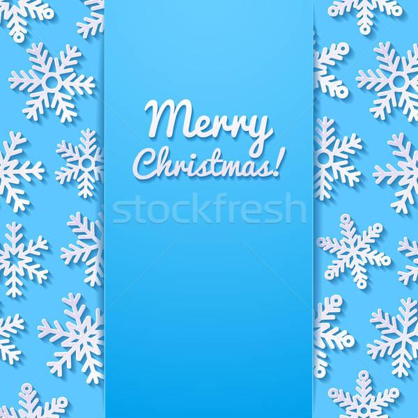 аннотация снега фон синий ретро Сток-фото © AbsentA