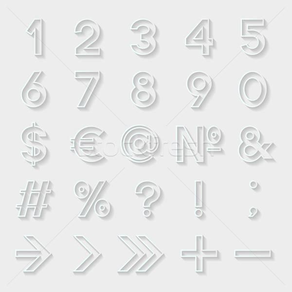 Set decorativo numeri simboli internet design Foto d'archivio © AbsentA
