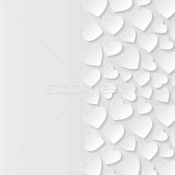 Abstract harten papier liefde hart ontwerp Stockfoto © AbsentA
