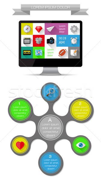 Ui Инфографика веб Элементы дизайна eps10 Сток-фото © AbsentA
