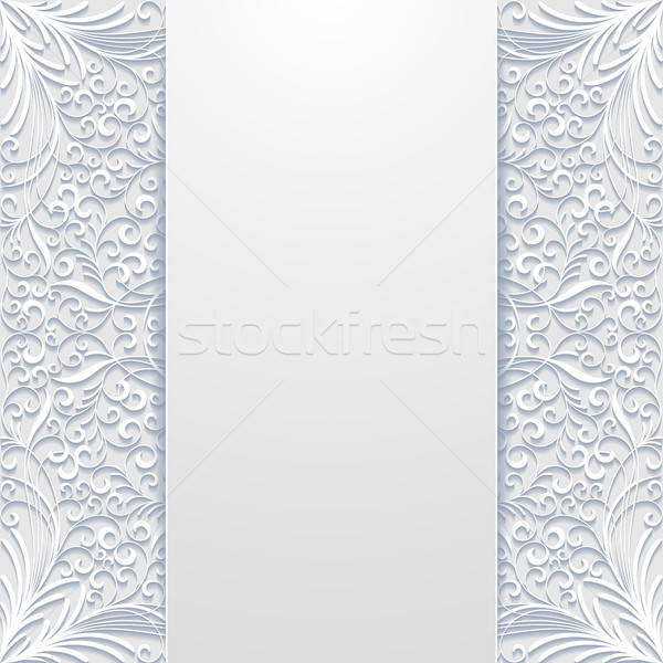 Résumé floral papier design fond wallpaper Photo stock © AbsentA