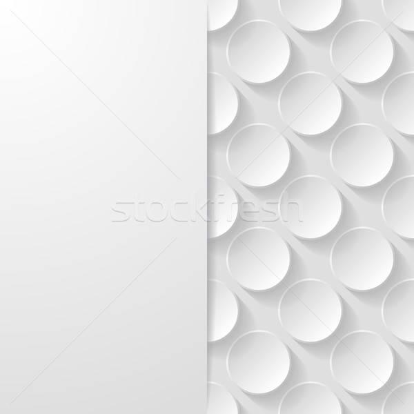 Résumé géométrique papier fond blanche modèle Photo stock © AbsentA