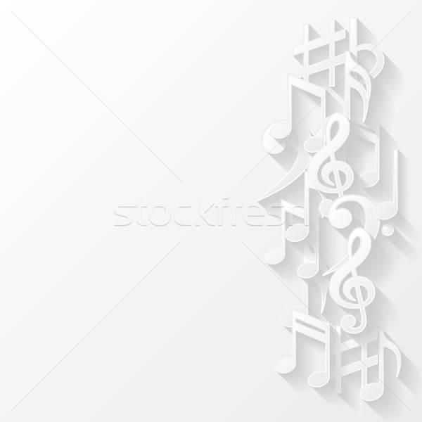 Resumen notas musicales fondo signo web clave Foto stock © AbsentA