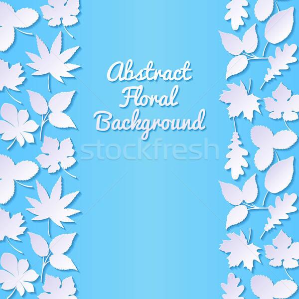 Abstract papier bladeren zomer retro behang Stockfoto © AbsentA