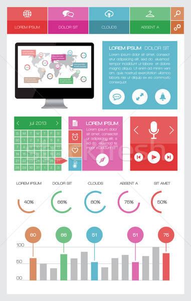 Stockfoto: Ui · infographics · web · communie · ontwerp · eps10