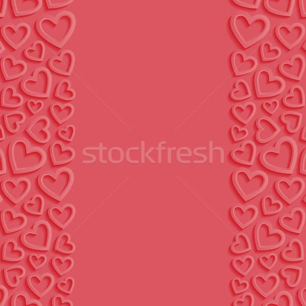 Résumé coeurs mariage fond cadre rétro Photo stock © AbsentA