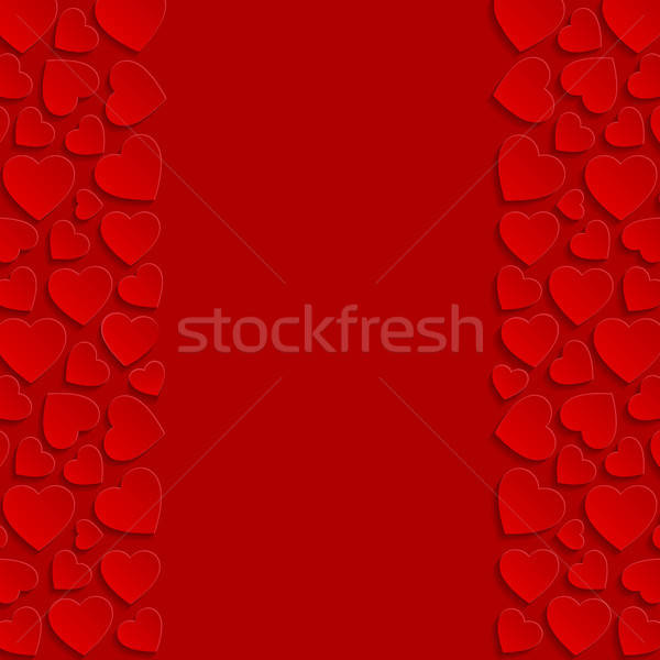 Abstract harten bruiloft achtergrond frame retro Stockfoto © AbsentA