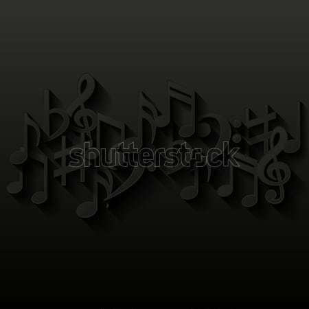 Abstract background with musical notes Stock photo © AbsentA