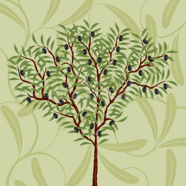 Floral pattern with an olive tree Stock photo © AbsentA