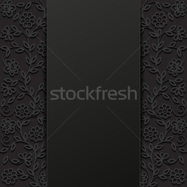 Soyut dizayn arka plan siyah Retro Stok fotoğraf © AbsentA
