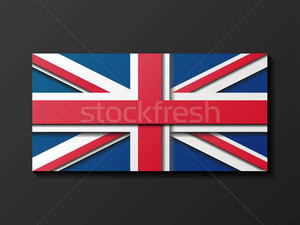 Modern style Great Britain flag Stock photo © AbsentA