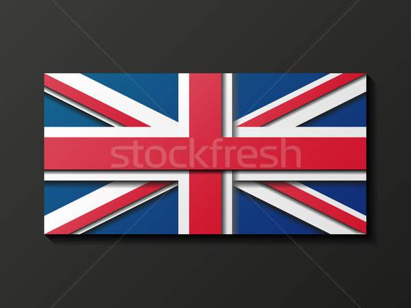 Modernen Stil Großbritannien Flagge abstrakten Design Hintergrund Stock foto © AbsentA
