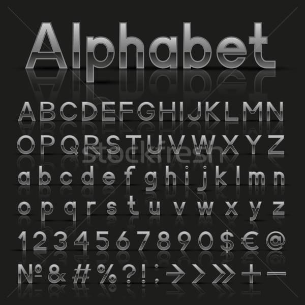 Decorativo argento alfabeto web questione euro Foto d'archivio © AbsentA