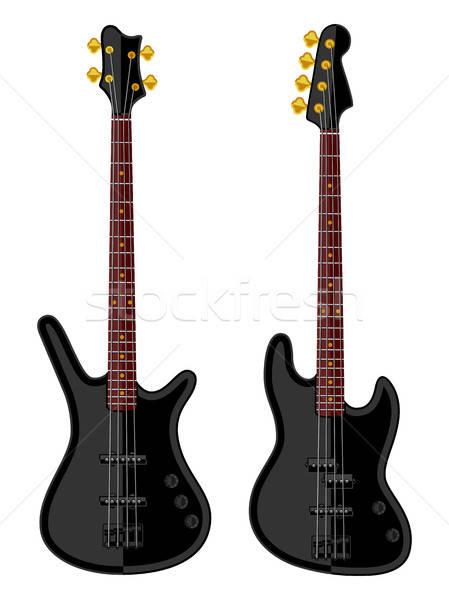 Modern elektrik bas müzik gitar kaya Stok fotoğraf © AbsentA