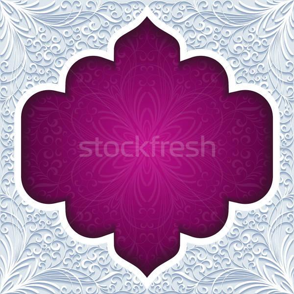 Stockfoto: Abstract · traditioneel · ornament · papier · ontwerp · behang