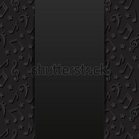 Absztrakt hangjegyek papír háttér művészet fekete Stock fotó © AbsentA