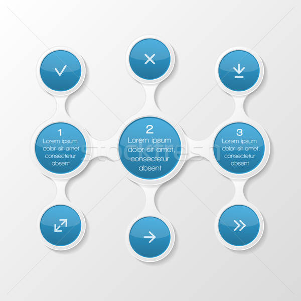 Metaball diagram. Infographic elements. Vector illustration. Stock photo © AbsentA