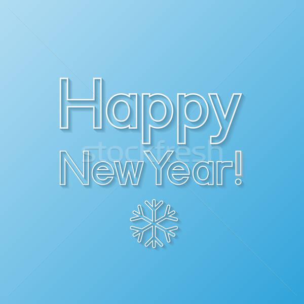 Nieuwjaar wenskaart retro kaart vintage witte Stockfoto © AbsentA