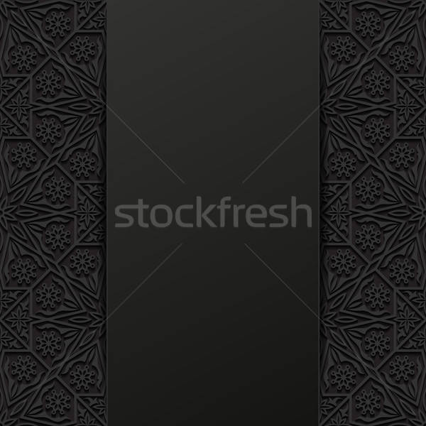 Abstract traditioneel ornament bloem ontwerp retro Stockfoto © AbsentA