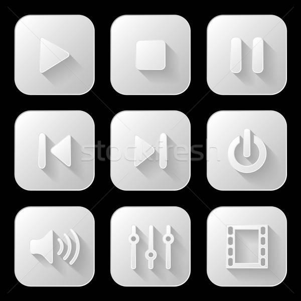 Media muziek papier internet web Stockfoto © AbsentA