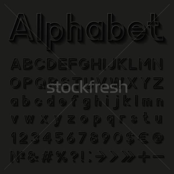 Decorativo alfabeto carta design nero questione Foto d'archivio © AbsentA