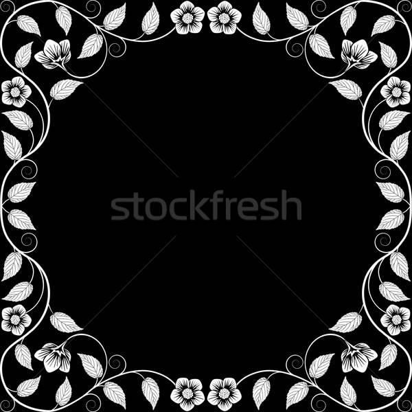 Stock photo: Vintage floral frame