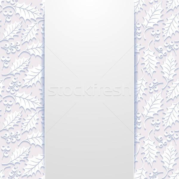 Résumé floral papier nature feuille fond Photo stock © AbsentA