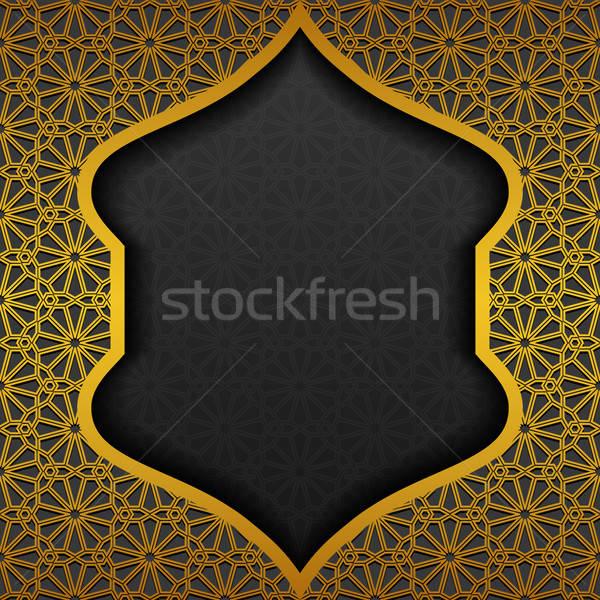 Tradicional ornamento diseno negro oscuro Asia Foto stock © AbsentA