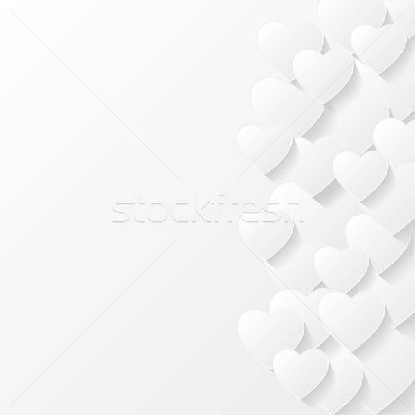 Résumé Valentin papier mariage coeur design Photo stock © AbsentA
